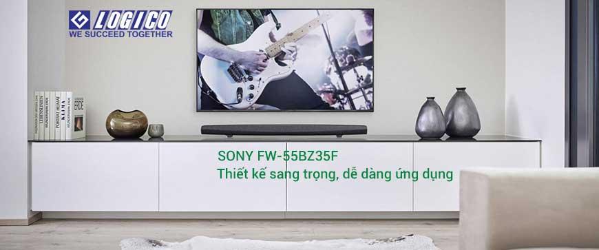 Sony FW-55BZ35F có thiết kế sang trọng với tính năng Motionflow XR 960 đảm bảo tái tạo mượt mà.