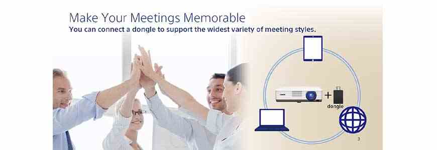 Máy chiếu Sony VPL-DW241 hỗ trợ đa kết nối giúp trình chiếu dễ dàng hơn