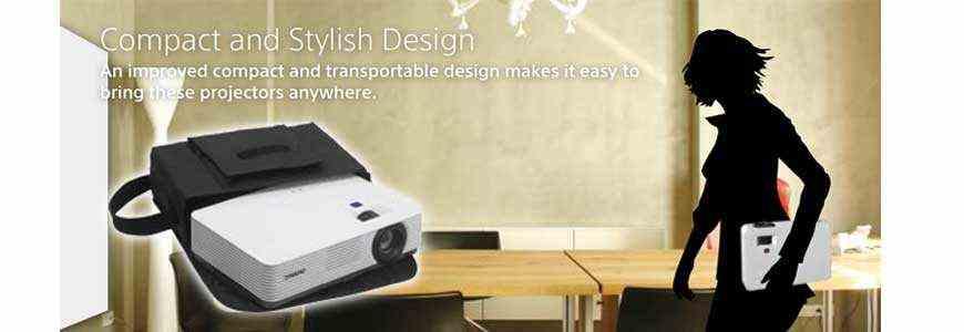Máy chiếu Sony VPL-DX271 có thiết kế mỏng nhẹ - di động