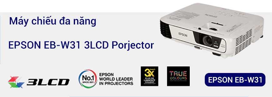 Máy chiếu đa năng, chất lượng cao, sửng dụng công nghê 3LCD Brighter của Epson