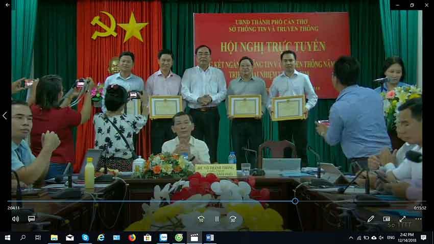 Hệ thống Hội nghị truyền hình Polycom thành phố Cần Thơ - Điểm cầu Sở Thông tin truyền thông