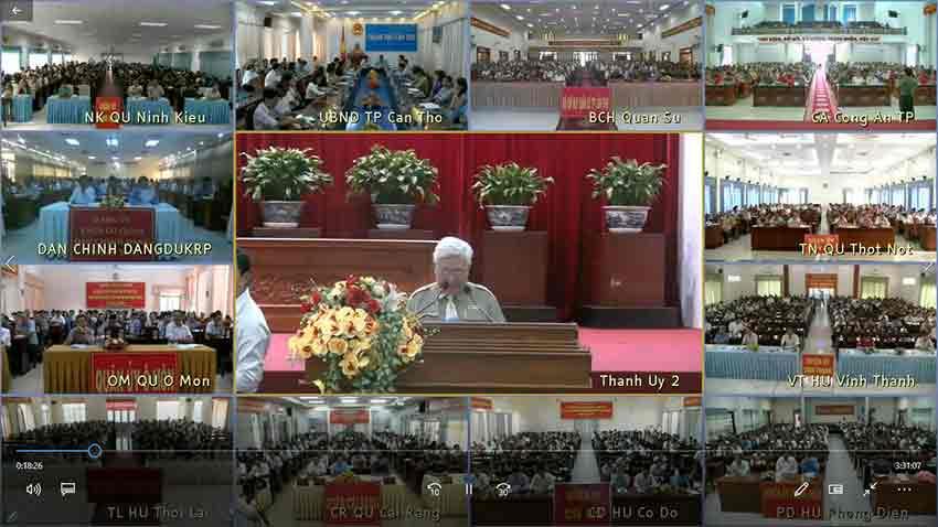Hệ thống Hội nghị truyền hình Polycom thành phố Cần Thơ - Điểm cầu Thành ủy