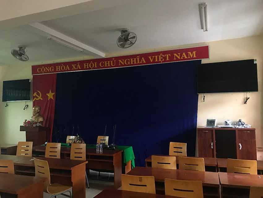 Hệ thống Hội nghị truyền hình và âm thanh phòng họp - Trường học Tiên tiến Thông minh tỉnh Bình dương