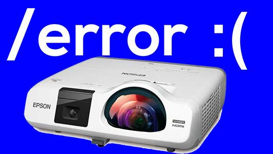 Lỗi máy chiếu thường gặp và cách khắc phục