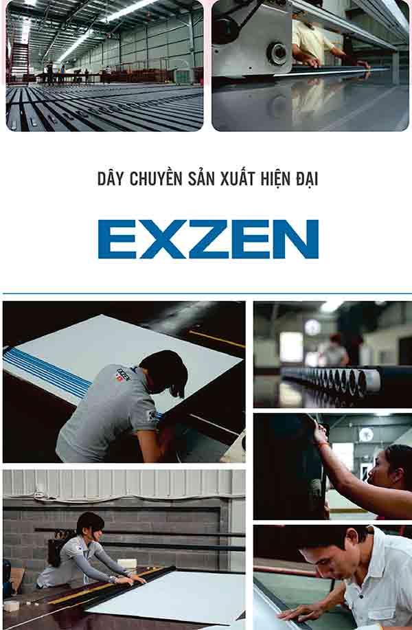 Dây chuyền sản xuất hiện đại của nhà sản xuất màn chiếu EXZEN
