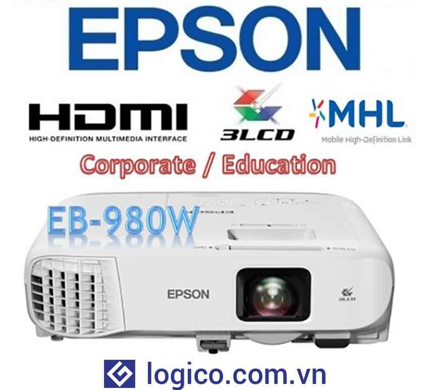 Máy chiếu Epson EB-980W - Top 4 máy chiếu cho phòng họp lớn đến từ Nhật