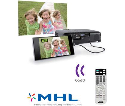 Tính năng trình chiếu từ các thiết bị di động trên máy chiếu phim Epson
