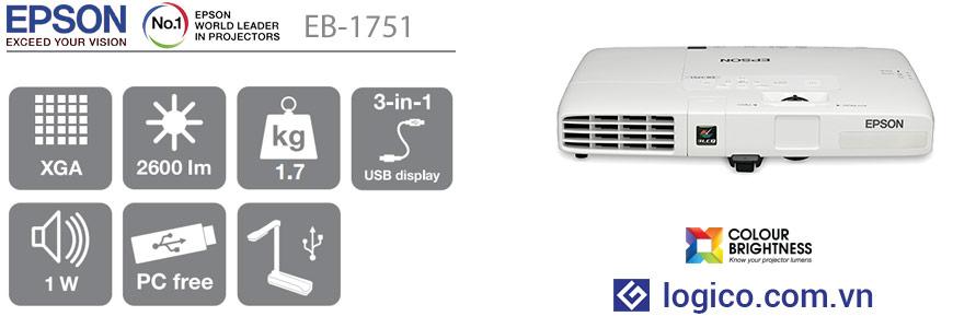 Thông số kỹ thuật máy chiếu Epson EB-1751