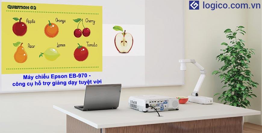 Dòng máy chiếu Epson EB-970 là dòng máy chiếu cho lớp học - Công cụ hỗ trợ giảng dạy tuyệt vời cho các giáo viên