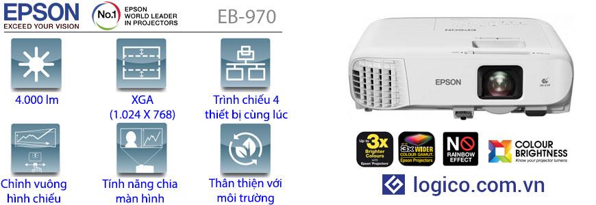 Thông số kỹ thuật máy chiếu Epson EB-970