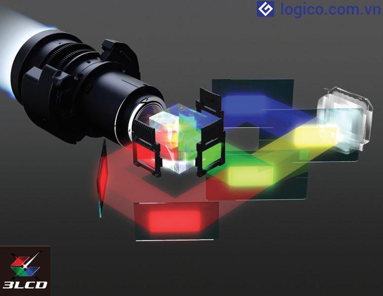 Chất lượng hình ảnh vượt trội với công nghệ 3LCD trên máy chiếu Laser Epson LightScene EV-105
