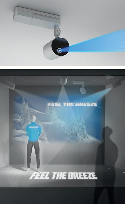 Máy chiếu Laser Epson LightScene EV-105 có thiết kế kiểu đèn rọi nên phù hợp với mọi không gian nội thất