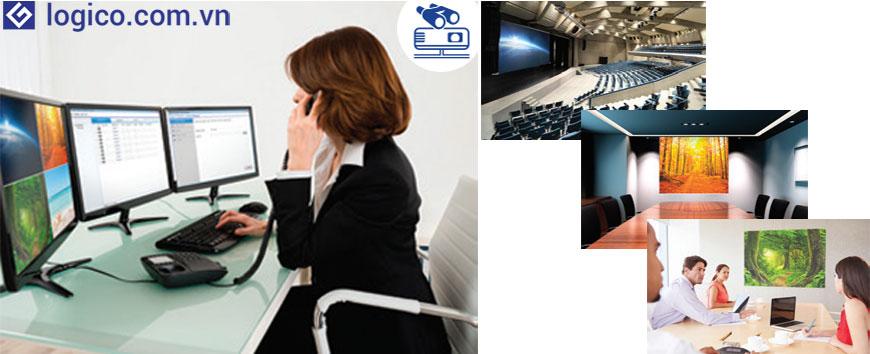 Kiểm soát trạng thái và điều chỉnh một số tính năng cơ bản của máy chiếu qua mạng với phần mềm Quản lý máy chiếu của Epson