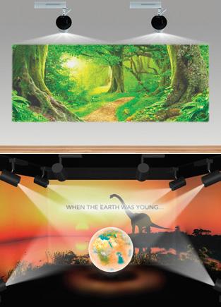 Thiết kế không gian động với máy chiếu Laser Epson LightScene EV-105