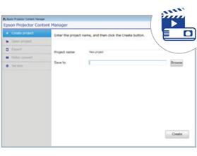 Trình quản lý nội dung máy chiếu Epson