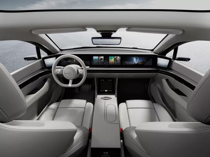 Sony ra mắt xe điện Vision-S: Trang bị 33 cảm biến không có gương chiếu hậu