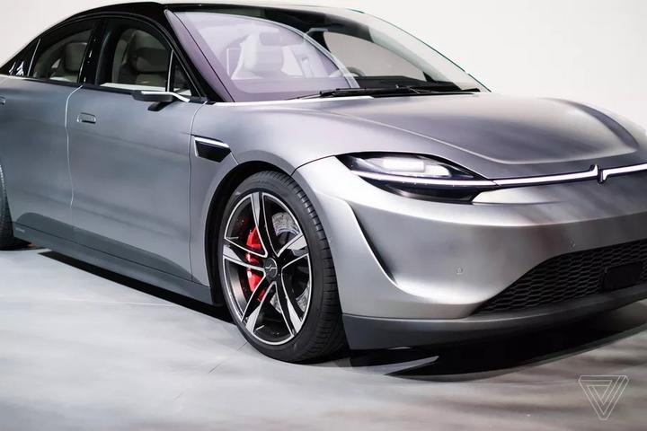 Thiết kế xe điện Vision-S không có gương chiếu hậu