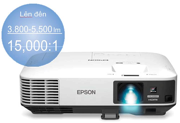 Các dòng máy chiếu văn phòng của Epson có độ sáng từ 3.800 - 5.500 lumen với tỷ lệ tương phản 15.000:1