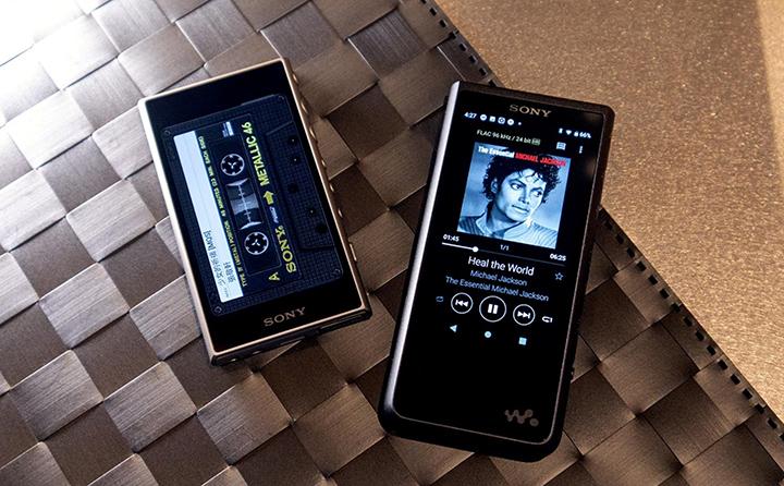Sony Walkman Hi-res NW-ZX507 được tích hợp màn hình chờ hình chiếc băng cassette vô cùng độc đáo.
