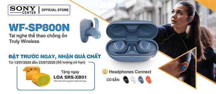 Đặt Trước Tai Nghe Thể Thao Chống Ồn Truly Wireless Sony WF-SP800N - Nhận Quà Chất
