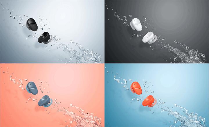 Tai nghe thể thao chống ồn Truly Wirless Sony WF-SP800N có 4 màu sắc trẻ trung và cá tính