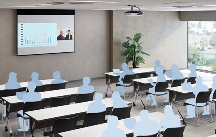 Tính năng Chia màn hình tiên tiến được tích hợp trên các dòng máy chiếu văn phòng của Epson