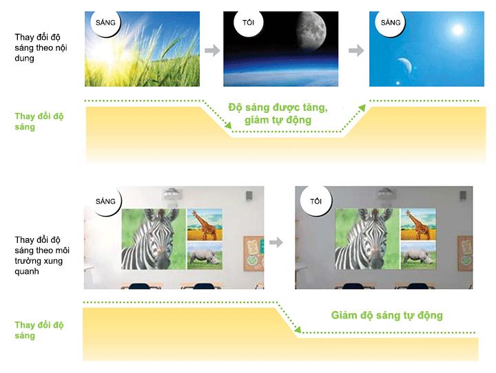 Tối ưu hóa độ sáng của máy chiếu một cách thông minh