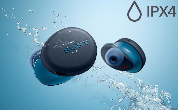 Với chuẩn kháng nước IPX44, tia nước bắn và mồ hôi cũng không làm ảnh hưởng đến tai nghe. Bạn có thể thưởng thức âm nhạc mà không bị gián đoạn.