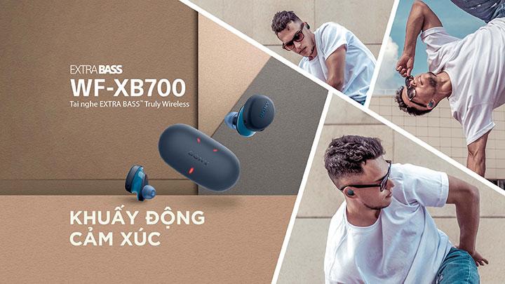 khuấy động cảm xúc mỗi ngày cùng tai nghe không dây Truly Wireless Sony WF-XB700