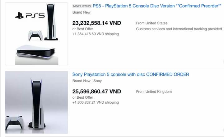 Giá PlayStation 5 trên thị trường chợ đen tăng gấp đôi mức gốc.