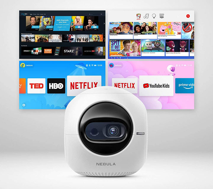 Máy chiếu mini Anker Nebula Astro tích hợp HĐH Android 7.1 với kho giải trí Netflix, Youtube...