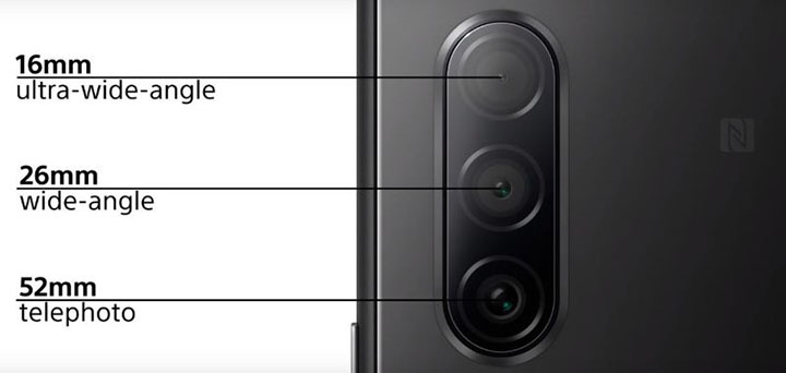 Cụm camera sau Sony Xperia 10 II nâng cấp về số lượng lẫn chất lượng