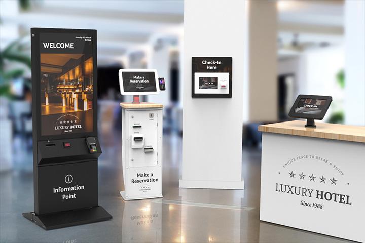 Kiosk thông tin đặt tại khu vực đại sảnh giúp cung cấp thông tin các dịch vụ gia tăng của khách sạn