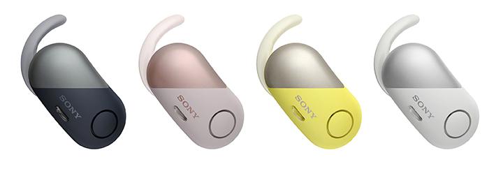 Tai nghe thể thao chống ồn Sony WF-SP700N có thiết kế vành đai cao su chống rơi rớt khi luyện tập