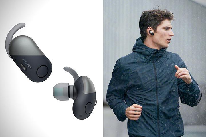 tai nghe thể thao chống ồnSony WF-SP700N đã được Sony trang bị công nghệ chống nước chuẩn IPX4