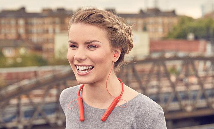 Tai nghe không dâySony WI-C400 có thiết kế theo kiểu neck-band