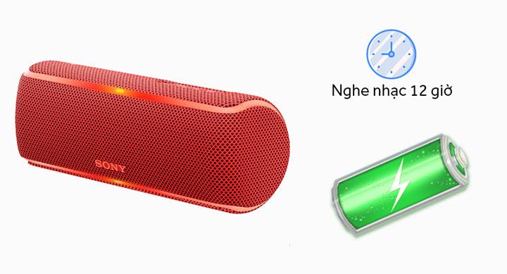 Thoải mái nghe nhạc với dung lượng pin 2700 mAh, phát nhạc lên đến 12 giờ