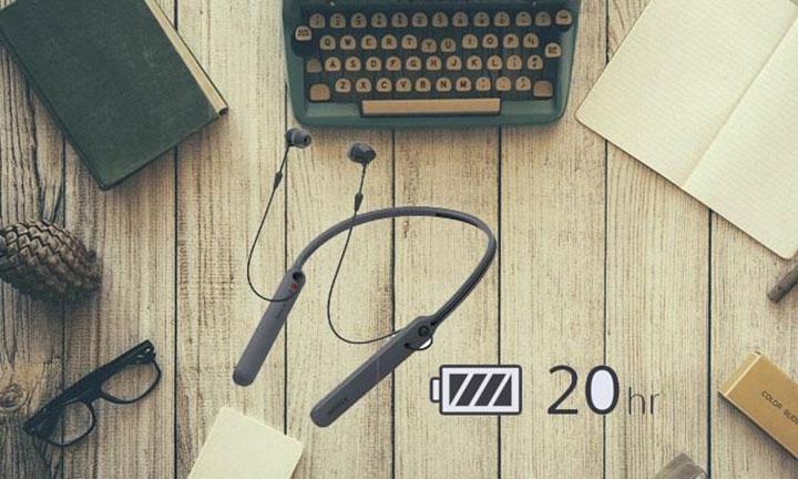 Tai nghe không dây Sony WI-C400 cung cấp cho cho người dùng thời gian sử dụng lên đến 20 giờ