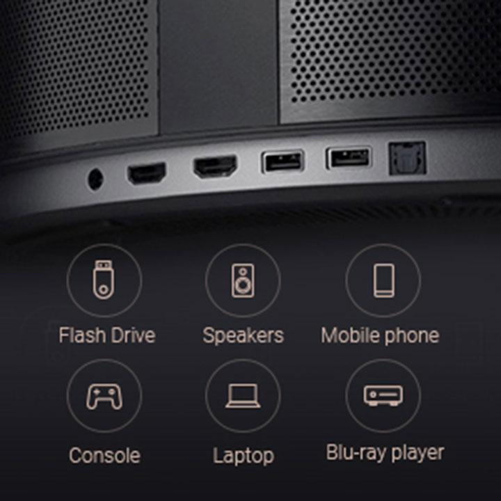 Kết nối thuận tiện và đơn giản với các chuẩn phổ biến như HDMI, USB, Bluetooth