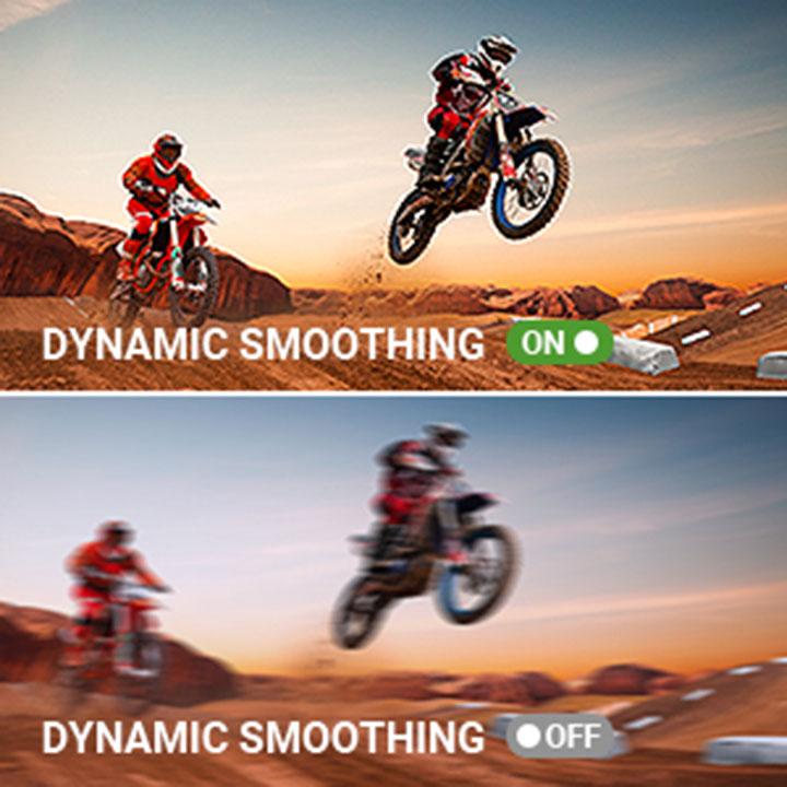 Dynamic Smoothing cho phép bạn xem từng khoảnh khắc hành động với độ rõ nét như pha lê
