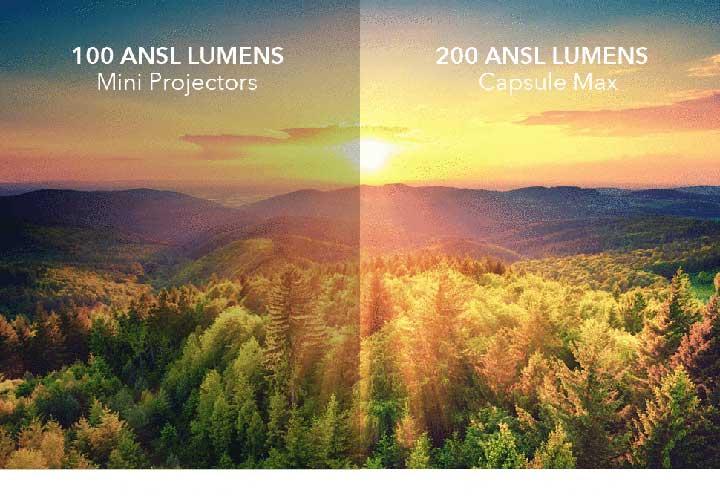 Độ sáng 200 Ansi lumen cho hình ảnh rõ nét hơn