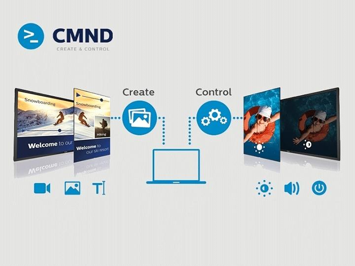Vận hành, theo dõi và quản lýmàn hình tương tác 86 inch Philips 86BDL4152T nhờ phần mềm CMND & Control
