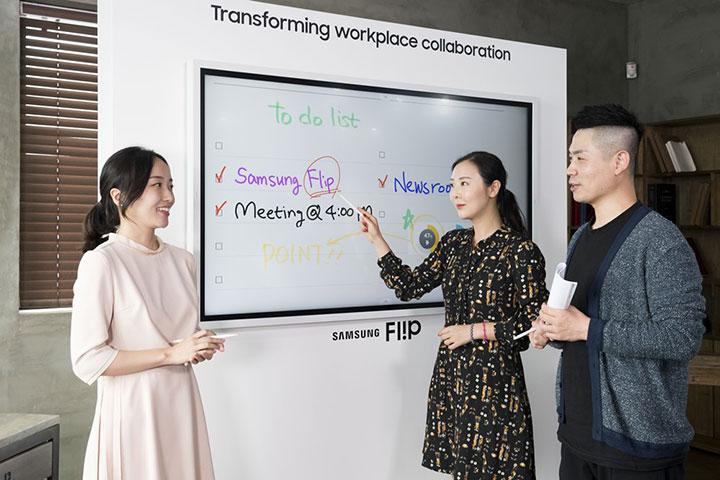 Samsung Flip - bảng tương tác kỹ thuật số trực quan và dễ thao tác cho mọi không gian hội họp