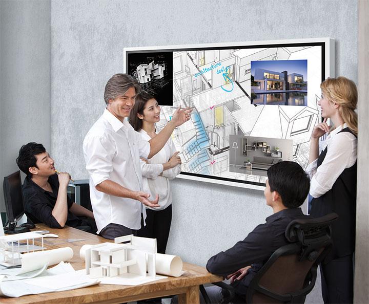 Bảng tương tác Samsung cho phép người học thỏa sức sáng tạo
