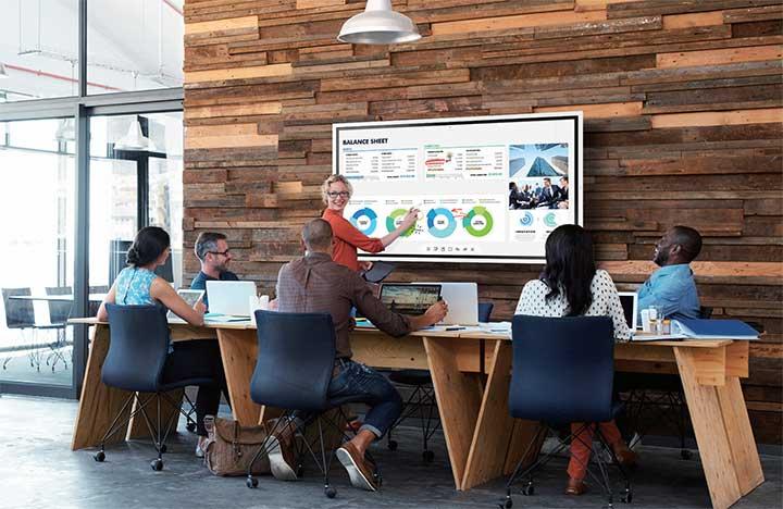 Ứng dụng bảng tương tác Samsung trong các doanh nghiệp vừa và nhỏ