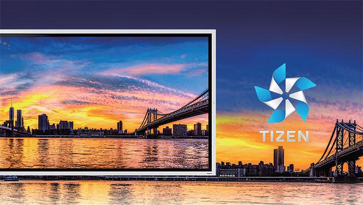 Hình ảnh sắc nét và sống động hơn nhờ hệ điều hành TIZEN 5.0