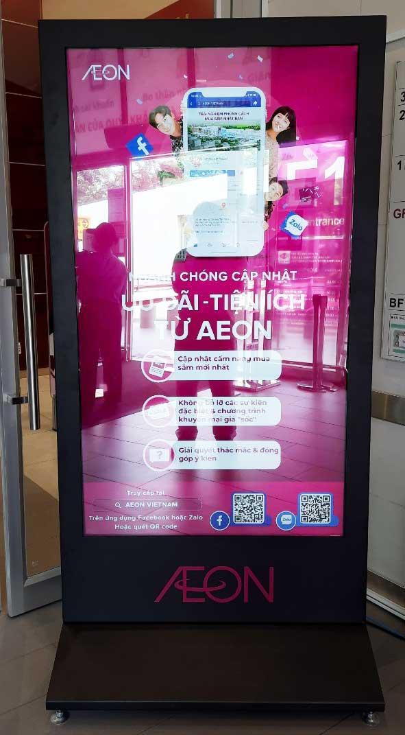 Màn hình chuyên dụng được sử dụng tại hệ thống Aeon Mall Việt Nam