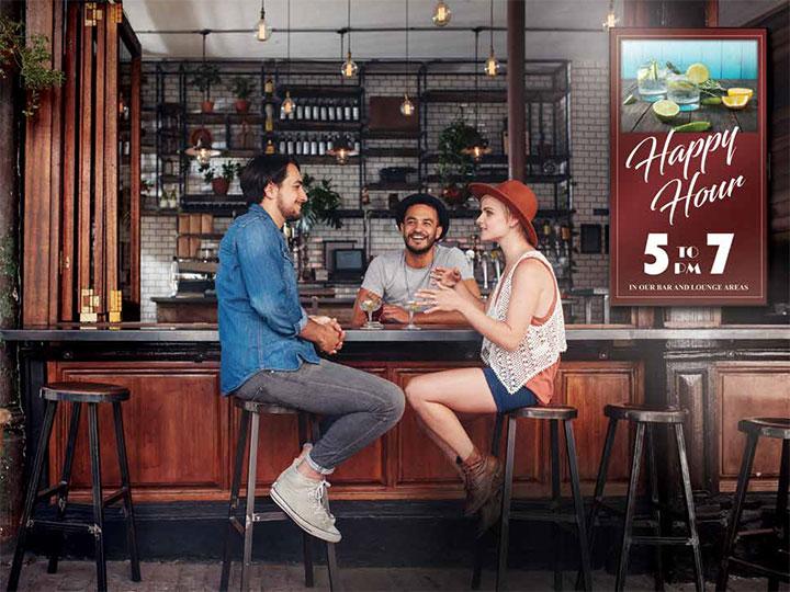 Màn hình chuyên dụng để quảng cáo đặt tại các quán cà phê, nhà hàng