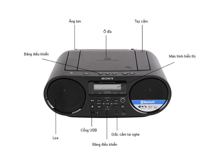 Máy Cassette CD Sony ZS-RS60BT