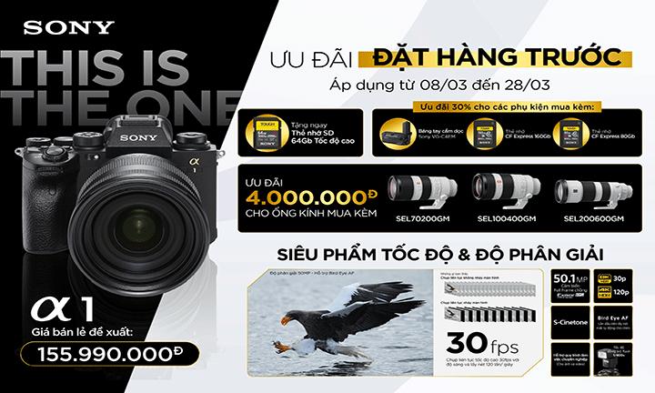 [PRE-ORDER] : Đặt ngay  Máy ảnh Full Frame Sony Alpha A1 ngay hôm nay nhận ngay ưu đãi giảm giá lên đến 4.000.000 VNĐ
